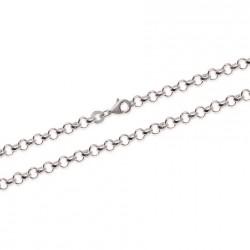 Bracelet en argent maille jaseron allégée 4 mm pas chère obrillant-bijoux
