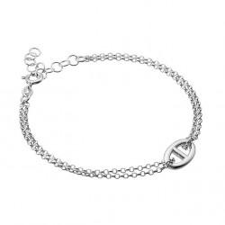 Bracelet en argent 2 rangs maillon marine en promotion obrillant-bijoux