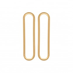 Boucles d'oreilles en plaqué or rectangle