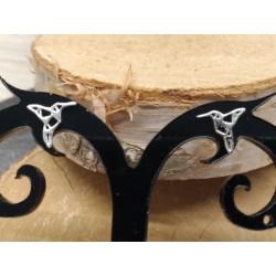 Boucles d'oreilles puces argent rhodié Grue PROMO obrillant-bijoux