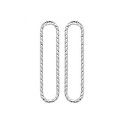 Boucles d'oreilles en argent rectangle aspect torsadé pas chère obrillant-bijoux