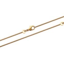 Collier chaine en plaqué or maille serpent ronde pas chère obrillant-bijoux