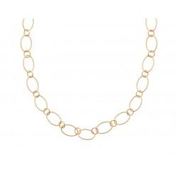 Collier en plaqué or maillons ovales et ronds aspect torsadés Obrillant-Bijoux
