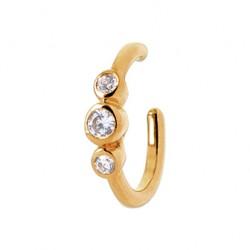 Bague d'oreilles en plaqué or monture en zirconium pas chere  obrillant-bijoux