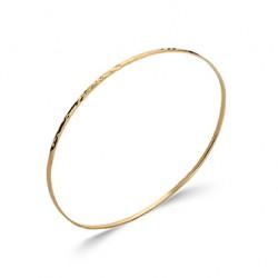 Jonc plaqué or monture aspect martelé pas cher obrillant-bijoux