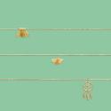Chaines de cheville plaqué or