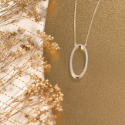 Collier plaqué or avec pierres